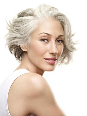 lady gray hair
